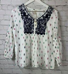 NWT-WORLD-MARKET-Womens-039-Long-Sleeve-Embroidered-Shirt-Small-Medium-44-99