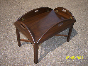 Delicieux Image Is Loading HENKEL HARRIS Mahogany Butler Coffee Table STYLE 5212