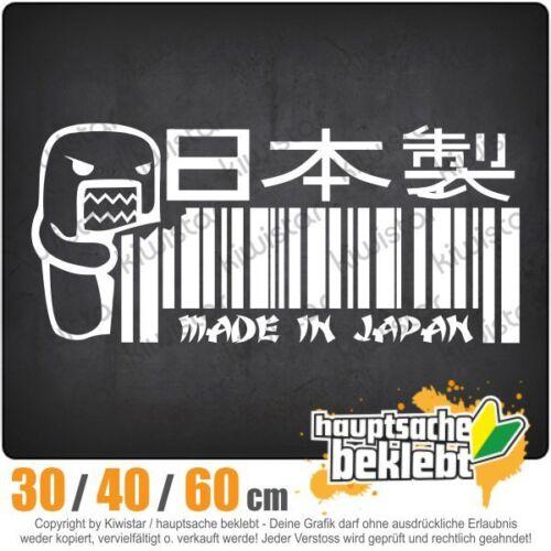 Made in Japan domo chf0695 en 3 tamaños JDM luneta trasera pegatinas