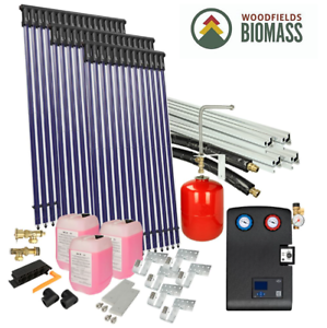 Details about Solar package 4flex on-roof 50 tubes / Biomass / Hot Water /  Heating
