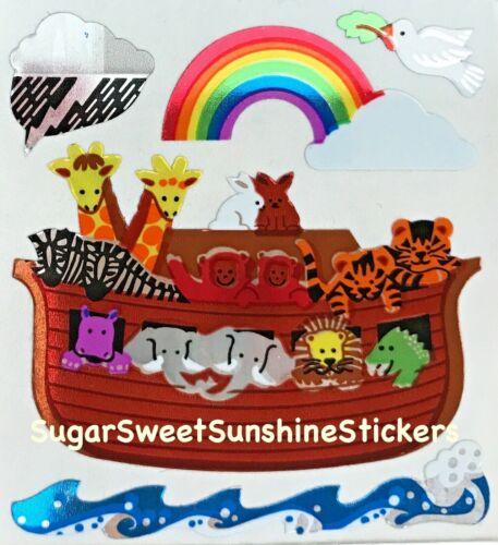NICE! Sandylion Vintage Stickers *MYLAR NOAH/'S ARK* Square Module RARE