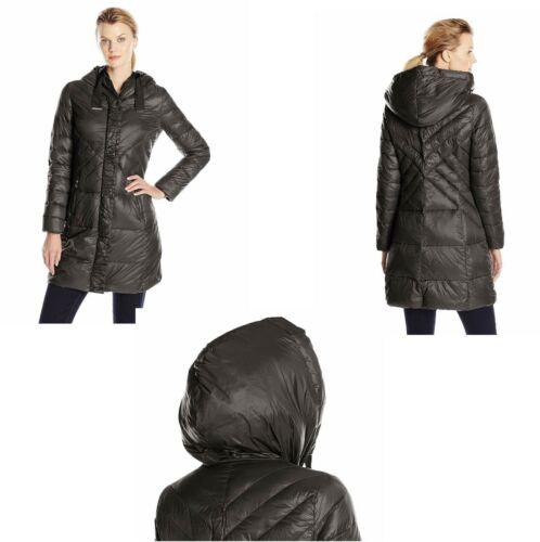 Med Dame Down Coat Large T Trim Brand 724432036849 New Black Gros Tahari Grain q4cRY