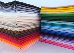 FAT QUARTER 100% Cotton Fabric Plain Solid Colours for crafts and quilting