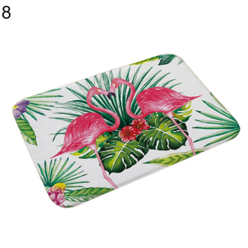 FT DI Cute Flamingo Kitchen Bathroom Anti-slip Doormat Carpet Floor Mat Home D