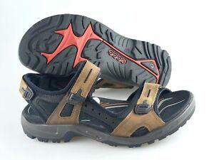Men-039-s-ECCO-039-Yucatan-039-Brown-Leather-Strap-Sandals-Size-US-12-EUR-46