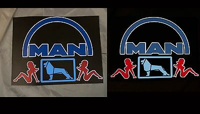 MAN TRUCK LOGO LIGHT BOARD - not LED , EL PANEL | eBay