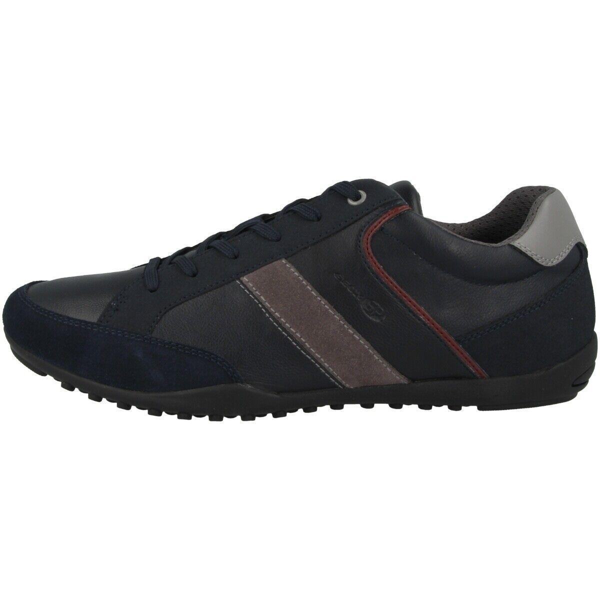 Geox U Garlan A Chaussures Hommes Loisirs de Sport Basses Bleu Marine