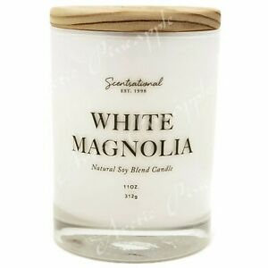 Scentsational-Natural-Soy-Blend-11oz-Wick-Medium-Candle-White-Magnolia