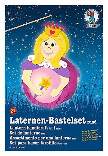 "Kinderfest St Laternen-Bastelset /""Prinzessin/"" Laterne selbst basteln Martin"