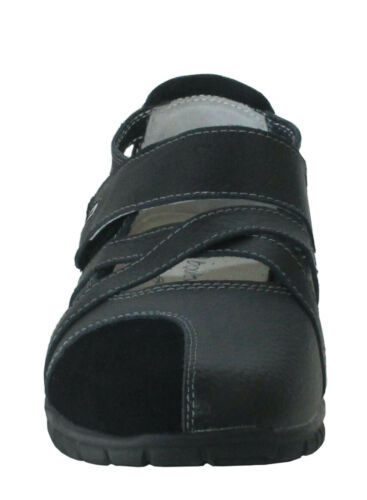 Femme Femmes Touch Attachez Crossover Eee wide fit Mary Jane Cuir Sandale Chaussure