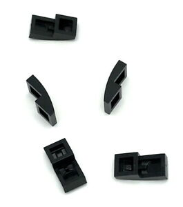 Lego 5 New Black Slope Curved 2 x 2 Sloped Pieces Parts