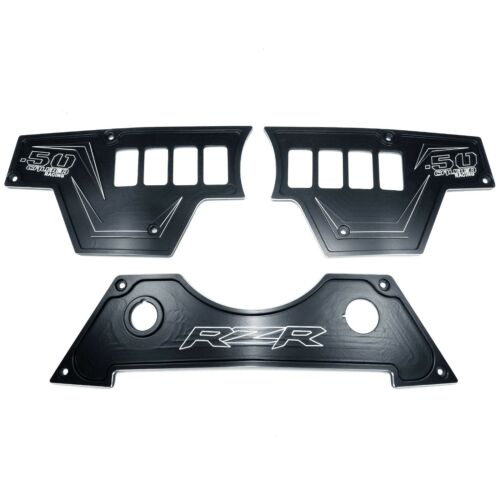 8 Switch 3 Piece Dash Panel Aluminum Black Powdercoated fits Polaris RZR XP1000