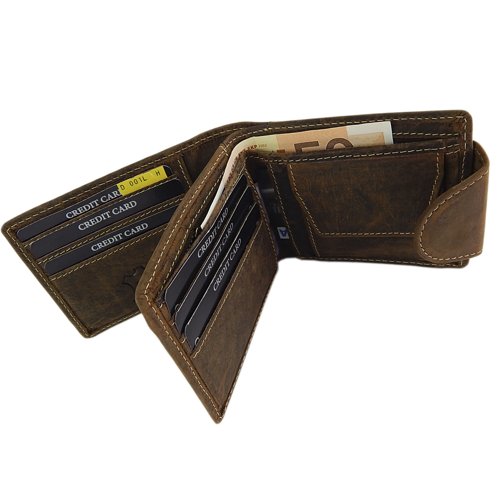 Original BRO&SIS Portemonnaie Damen Geldbörse Querformat Querformat Querformat Büffelleder Antikraun  | Sehr gute Farbe  b558a3
