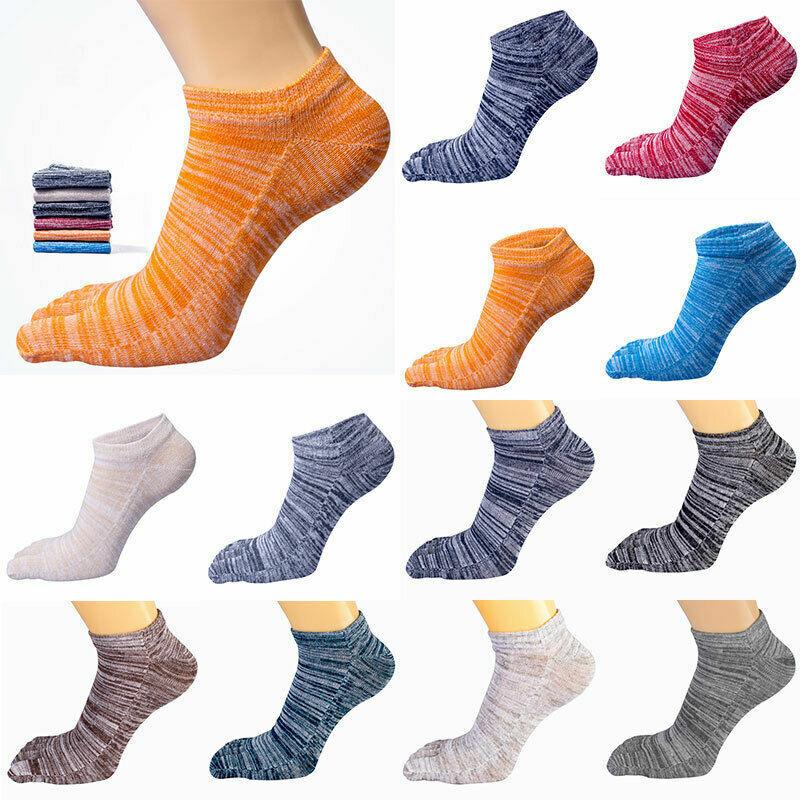 Herren Damen Socken Baumwolle Finger Atmungsaktiv Zehensocken Retro Voll Farbe .