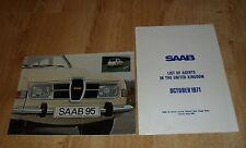 Saab 95 Brochure 1974 & UK Dealer Guide