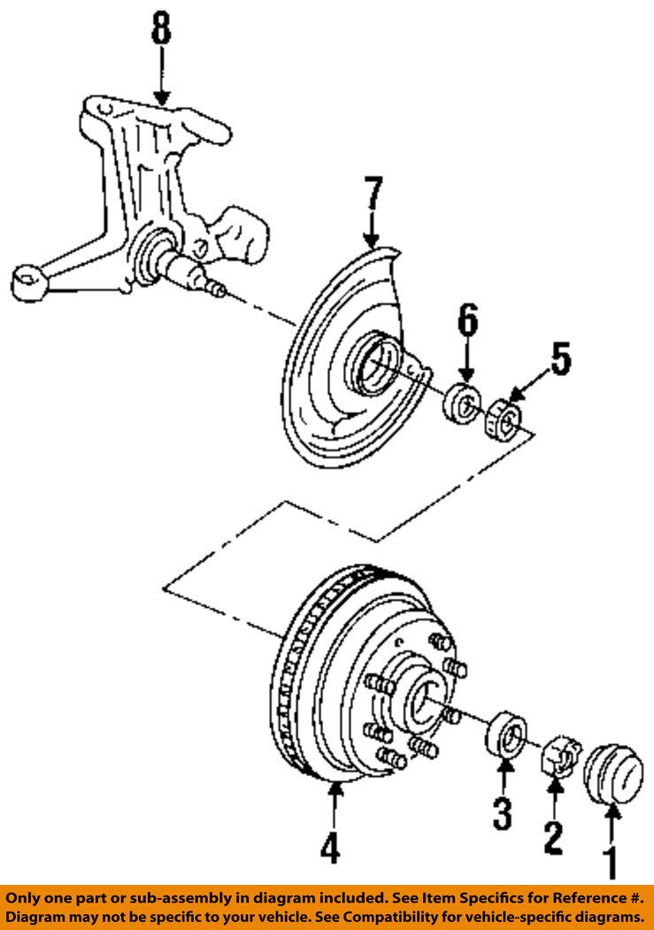 1963 1984 Chevrolet Pickup Suburban Van Nos Front Wheel Seals