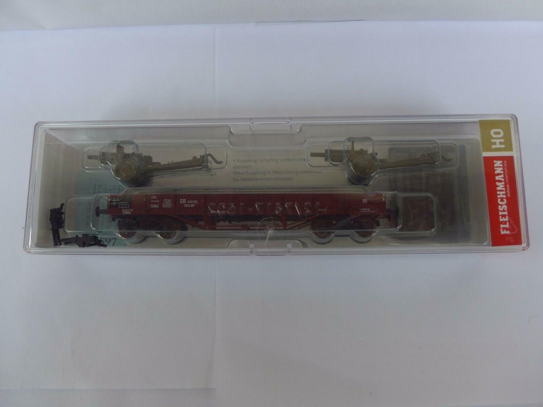 Fleischmann 5262 04 526204 Niederbordwagen XX beladen mit zwei M 101,DB #31711