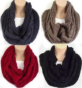 Kleidung & Accessoires Super Cable Knit Chunky & Warm Circle Loop Cowl Infinity Scarf Snood In Vielen Stilen Kleidung & Accessoires
