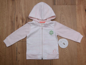 217b8f8e7 Burt s Bees Baby Girl Light Hooded Jacket ~ Pink   White ~ Stripes ...