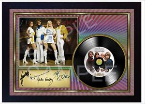 Abba Hits SIGNED Autographed FRAMED PHOTO AND CD Disc  perfect gift