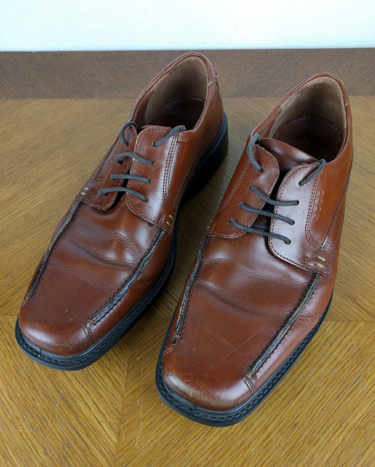 da non perdere! ECCO Marrone Oxfords scarpe scarpe scarpe Uomo Dimensione 43 Formal Dress Leather Fancy Hipster Lace Up  stanno facendo attività di sconto