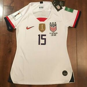 sale retailer d73a9 43a83 Details about Nike 2019 World Cup FINALS USWNT #15 Megan Rapinoe Jersey S -  M - L - X TEAM USA