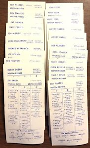 Details About Qty 22 Lot Of Strat O Matic Baseball Cards 1946 Boston Red Sox Ted Williams