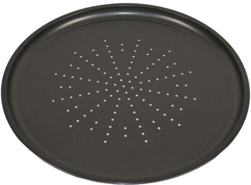 "Round Pizza Tray Non Stick Baking Oven Tin 12/"" Cripser Pan Bakeware Get Goods"