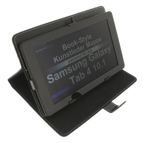 Borsa Per Samsung Galaxy Tab 4 10.1 borsa Bookstyle Tablet Guscio Protettivo Nero