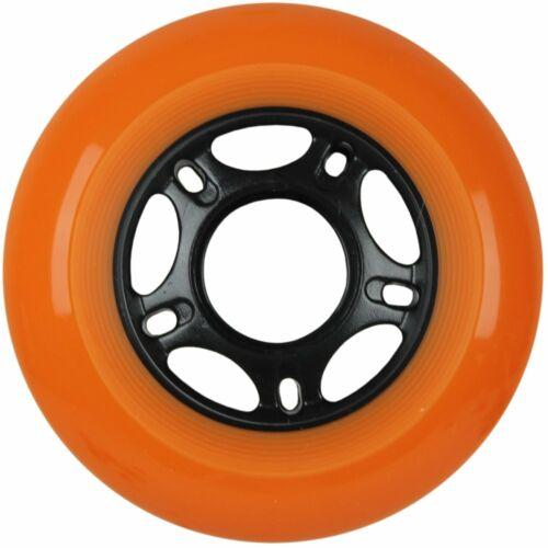 Inline Skate Wheels 80mm 89A Outdoor Orange Rollerblade 8Pk with Abec 5 Bearings