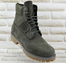 TIMBERLAND 6 inch Waterproof Mens Nubuck Leather Boots Grey size 10.5 UK 45 EU