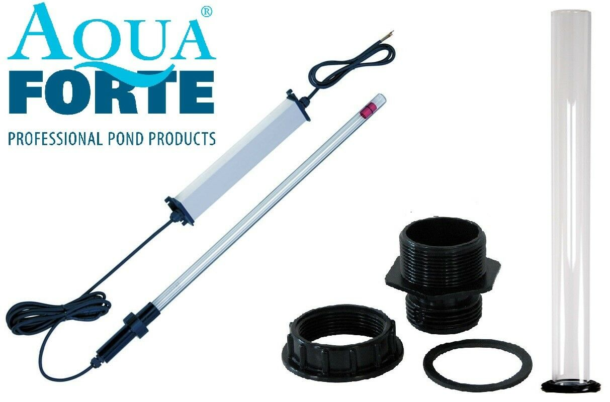 Aquaforte Tauch UVC 75 Watt Tauchstrahler Set Bausatz 5 teilig inkl.Durchführung
