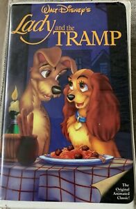 Lady And The Tramp Vhs Walt Disney Black Diamond Red Letter 75 Minutes Ebay