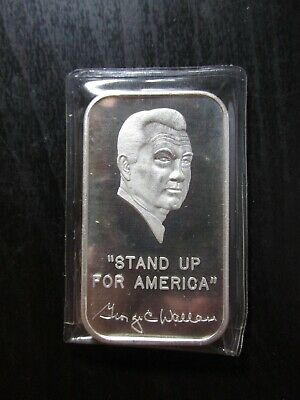 1973 World Wide Mint George Wallace 1-oz .999 silver art bars