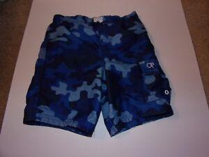 8f4b77c2b151b OP: Boys / Toddlers 4T Blue Camo Swim Trunks With Velcro Side Pocket ...