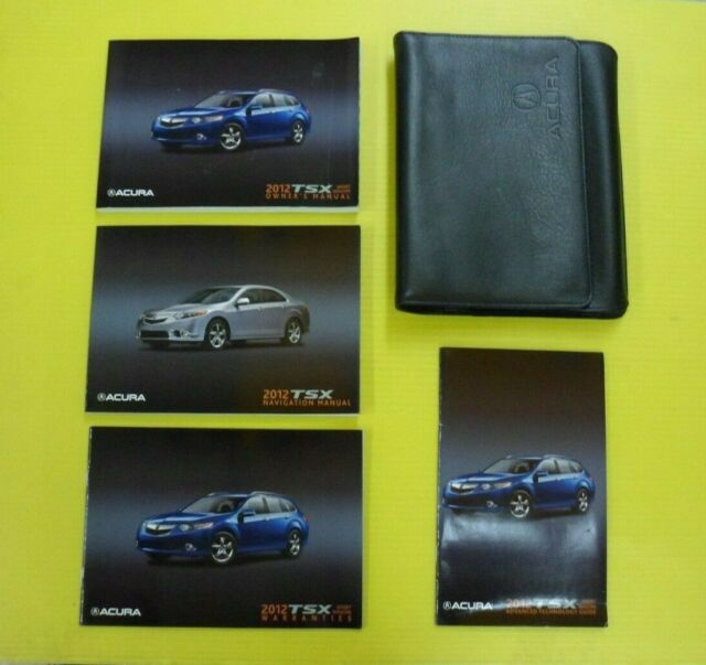 TSX Sport Wagon 12 2012 Acura Owners Owner's Manual Set