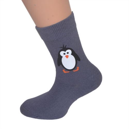 Mignon pingouin design enfants chaussettes-conviendra fille ou garçon penguin kids socks
