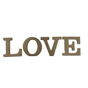 Love Schriftzug Deko Buchstaben Schrift MDF Holz Alphabet ...