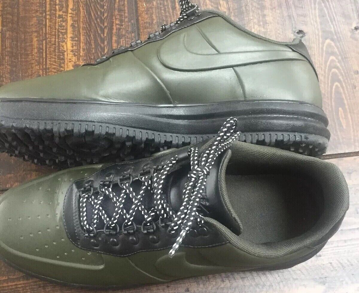 Nike Lunar Air Force 1 LF1 Duckboot Low Sequoia-Black Men's Size 14 Very Nice