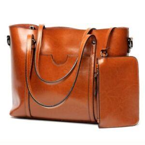 Women-Real-Genuine-Cowhide-Leather-Shoulder-Bag-Tote-Bags-Handbag-Shopping-Purse