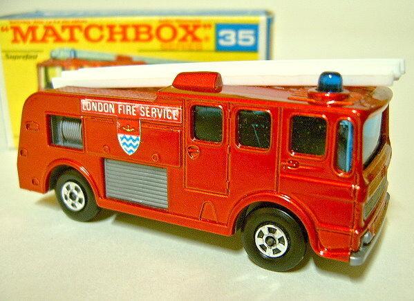 Matchbox SF Nr.35A Merryweather Fire Engine metallicrot frühe    G  Box  | Elegante und robuste Verpackung  c340e2