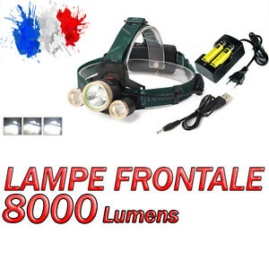 SWAT POLICE 1000M LAMPE TORCHE FRONTALE 8000 LUMENS LED FLASHLIGHT + ACCESSOIRES
