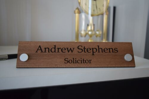 Modern Solid Wood Desk Name Plate Personalised Desk Name Plate