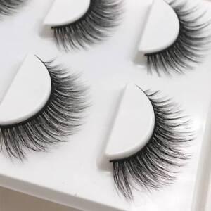 3-Pairs-Natural-False-Eyelashes-Fake-Lashes-Makeup-3D-Faux-Mink-Extension