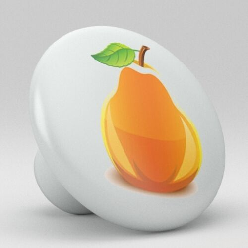 Yellow Pear Ceramic Knobs Pulls Kitchen Drawer Cabinet Vanity Closet 402 Pantry