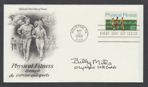 Billy-Mills-American-Olympic-Track-Star-in-1964-signed-Physical-Fitness-FDC