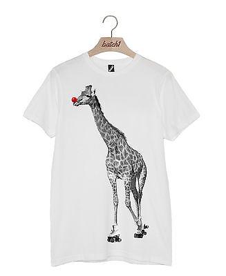 Lotto 1 Sport Relief Roller Giraffa Naso Rosso Moda Uomo Donna T-shirt-mostra Il Titolo Originale Ricambio Senza Costi A Qualsiasi Costo