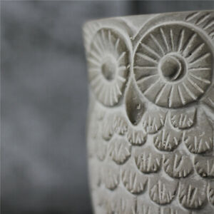 Silicone-Flowerpot-Mold-3D-Night-Owl-Cement-Concret-Planter-Garden-Pot-DIY-Craft