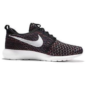 57552325dd45f Image is loading Mens-NIKE-ROSHE-NM-FLYKNIT-Black-Running-Trainers-