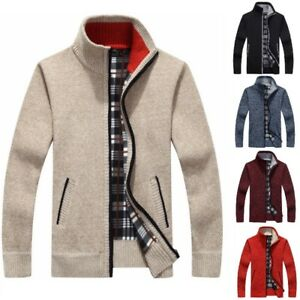 New-Men-Sweater-Cashmere-Wool-Autumn-Winter-Warm-Zipper-Pullover-Casual-Sweaters